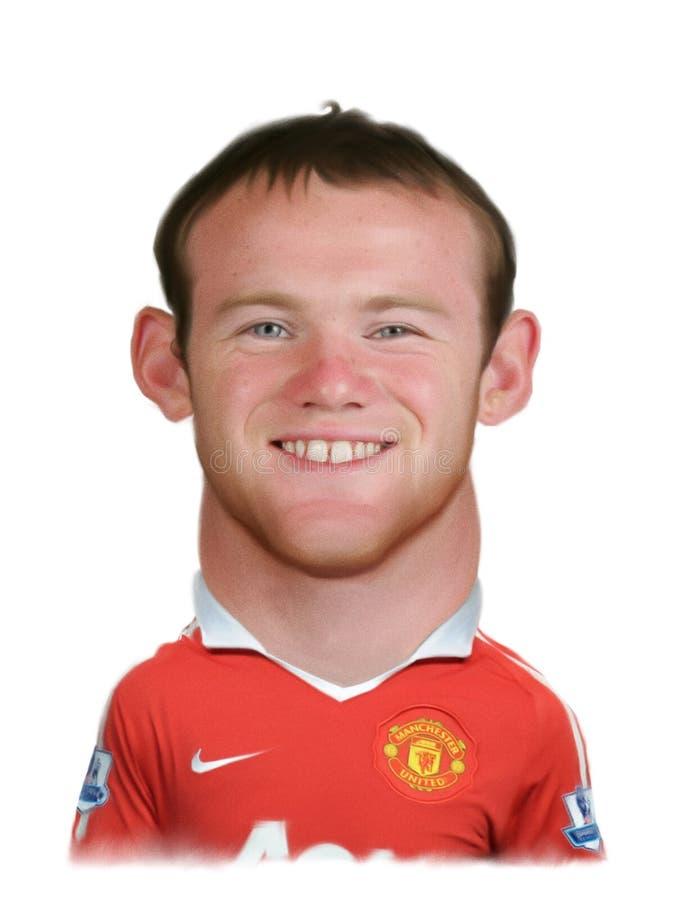 Caricatura de Rooney da marca de Wayne ilustração stock