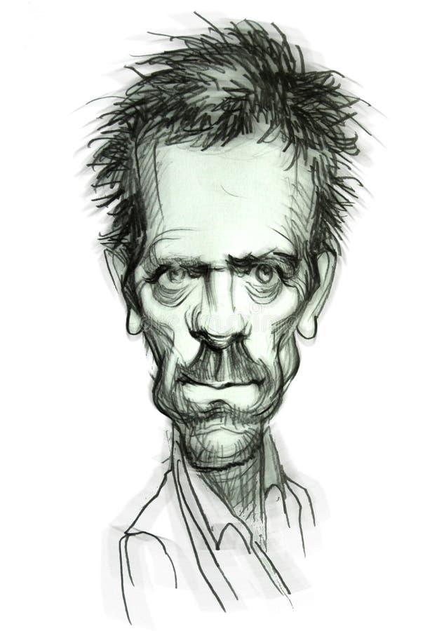Caricatura del Dott. House royalty illustrazione gratis