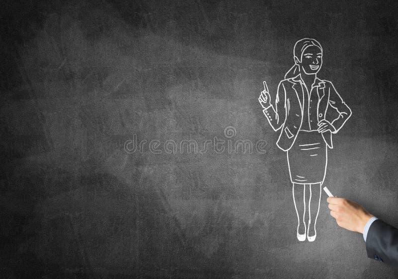 Caricatura della donna di affari illustrazione vettoriale