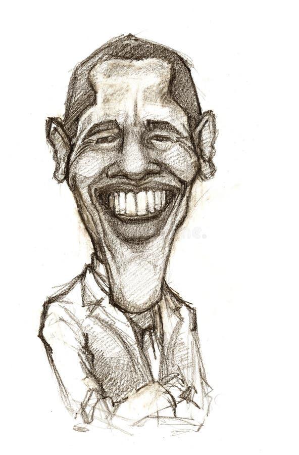 Caricatura di Barack Obama illustrazione vettoriale