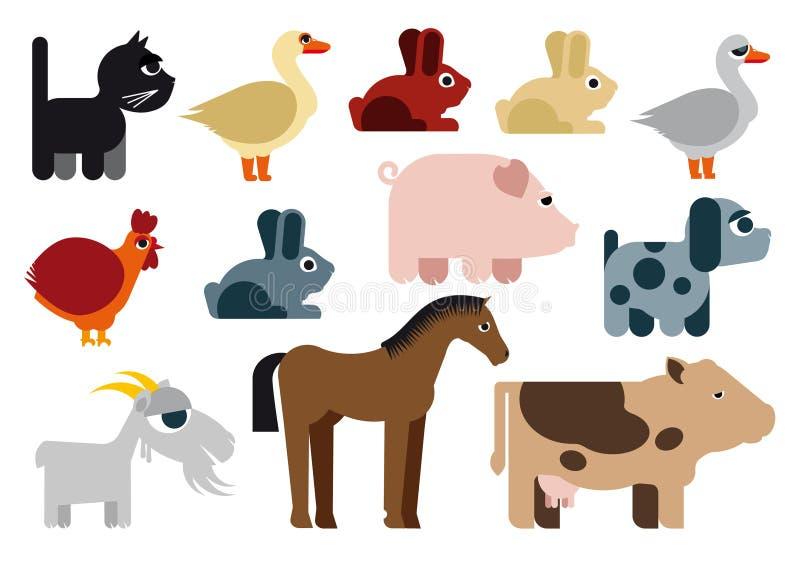 Caricatura ingénua da quadriculação dos animais ilustração royalty free
