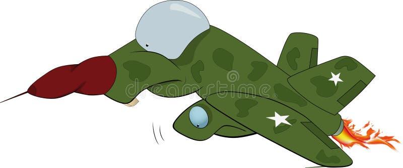 Caricatura piana militare illustrazione vettoriale