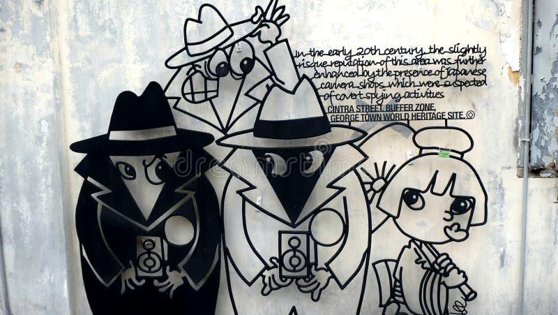 Caricatura soldada con autógena del alambre stock de ilustración