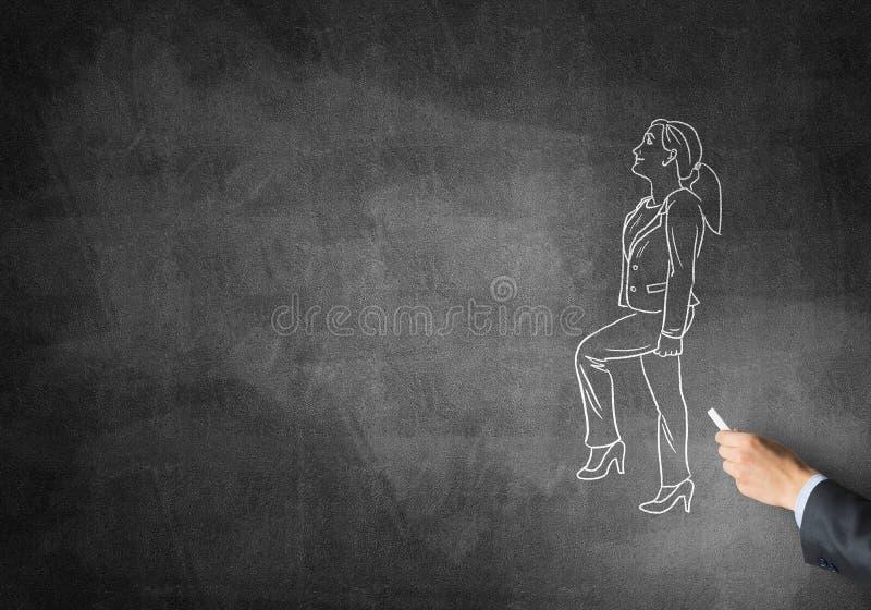 Caricature de femme d'affaires photos libres de droits