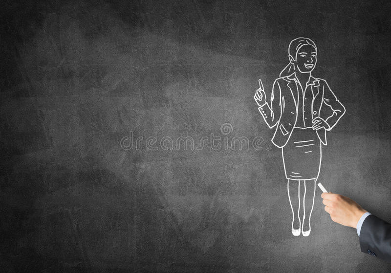 Caricature de femme d'affaires illustration de vecteur