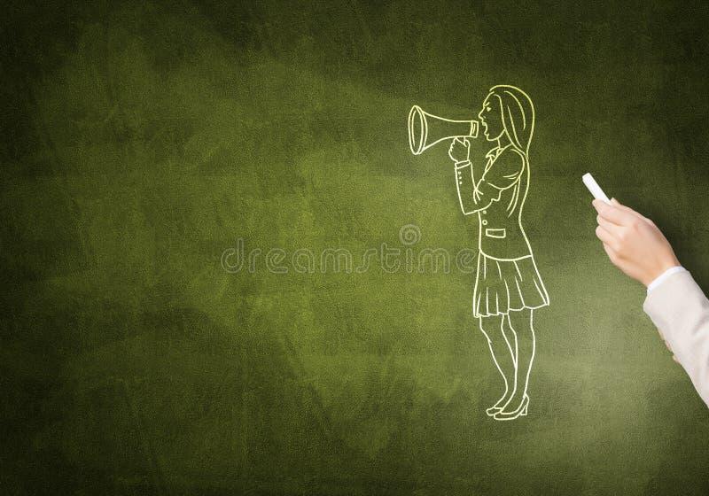 Caricature de femme d'affaires photographie stock libre de droits