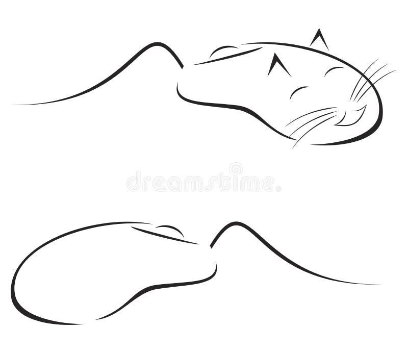Caricature de souris illustration libre de droits