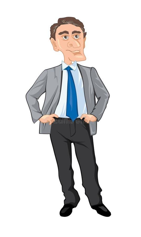 Caricature du directeur illustration libre de droits