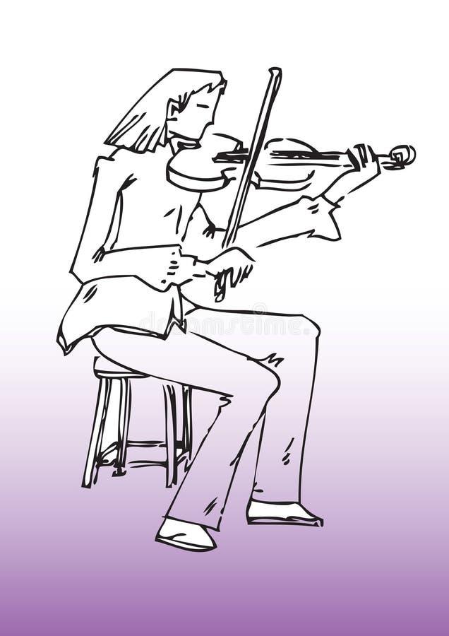 Caricature of female violinist