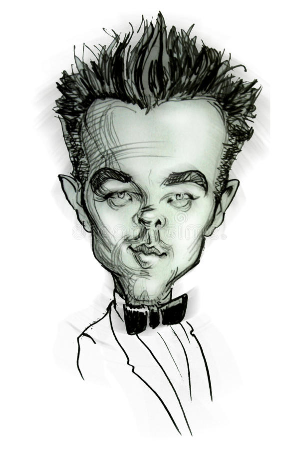 Caricature of Leonardo di Caprio royalty free illustration