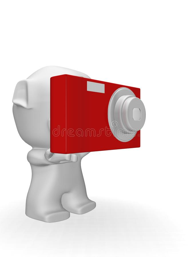 Download Caricature Of Man On Camera Stock Illustration - Image: 13093361