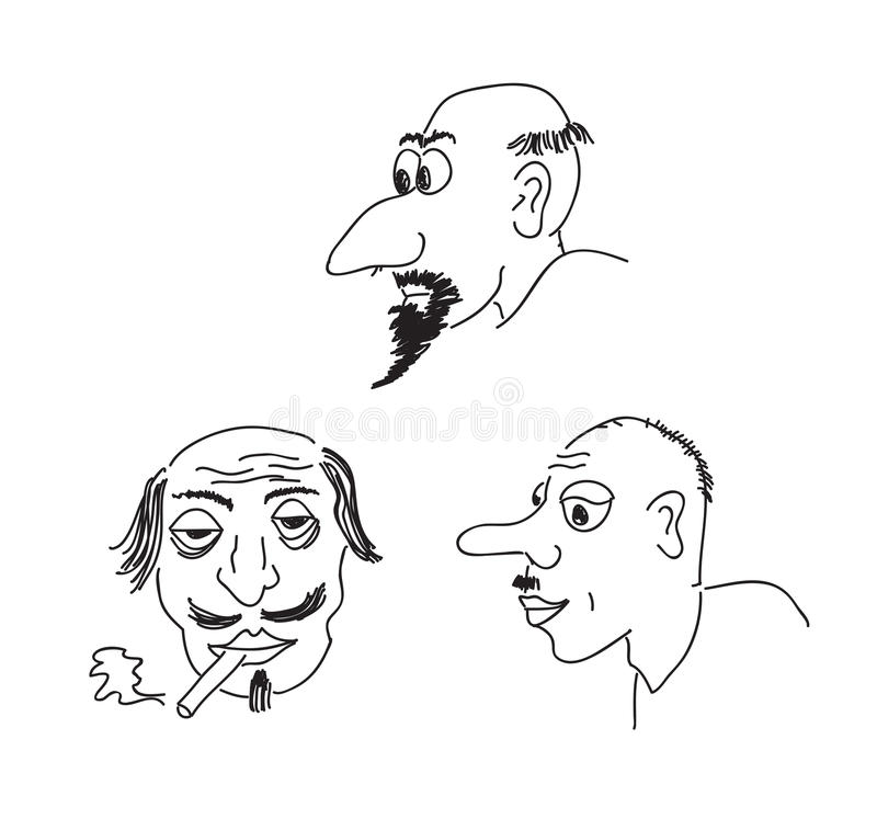 Download Caricature portraits stock illustration. Image of drawing - 30081005