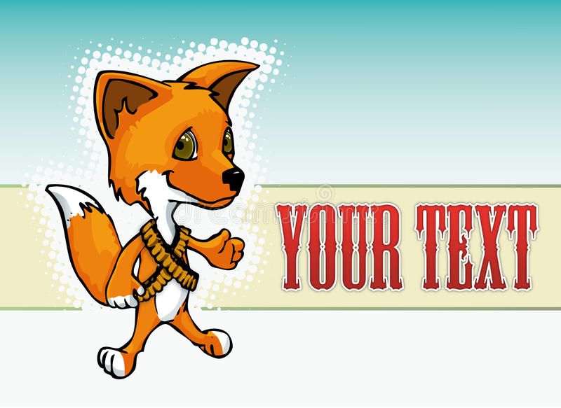 Caricature of a red fox character stock photos