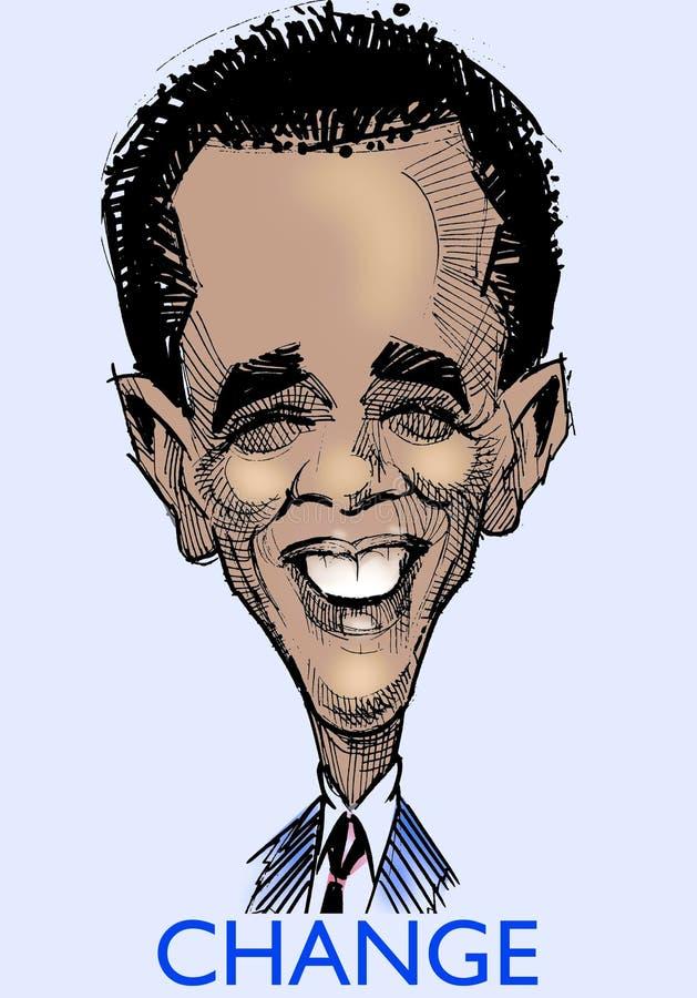 Caricature s di Barak Obama illustrazione di stock