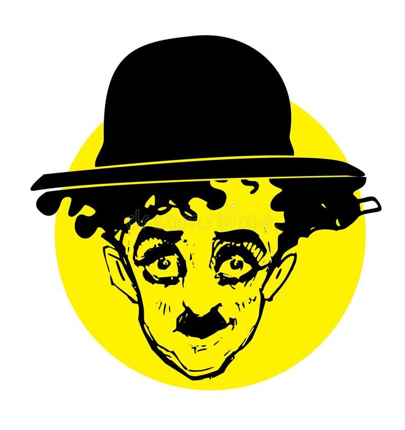 Caricature series: Charlie Chaplin. Hand drawn caricature of C. Chaplin /Charlot
