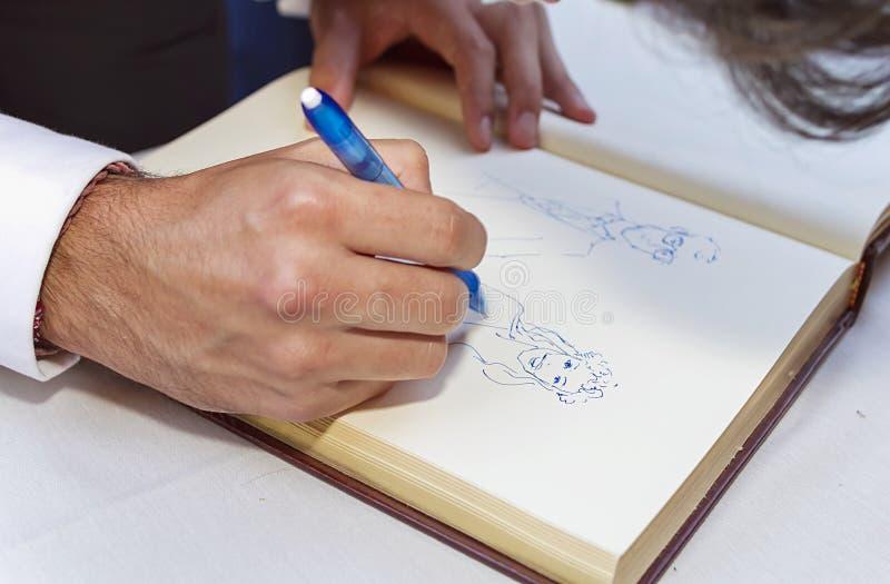 caricaturist royalty-vrije stock afbeeldingen