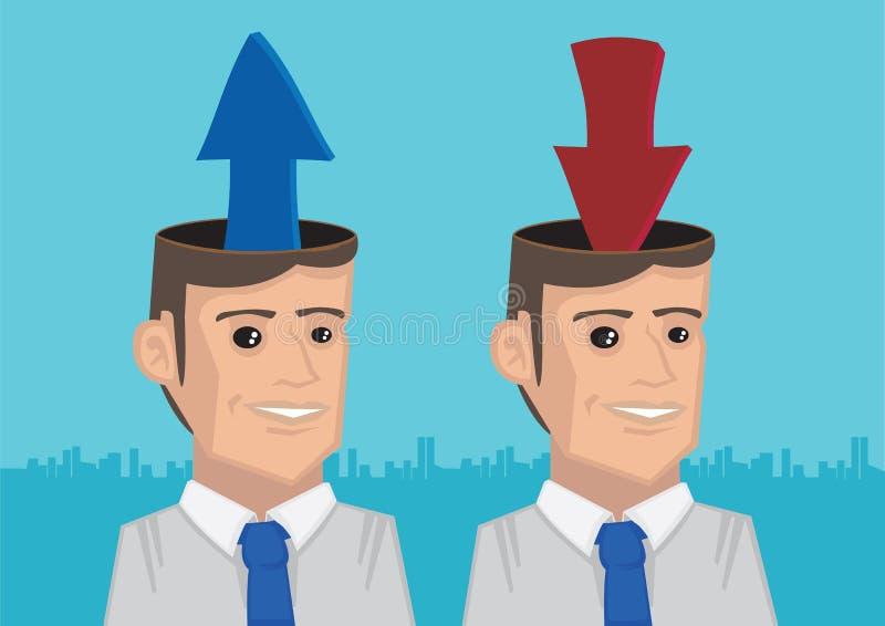 Carichi e scarichi le informazioni nel vettore metaforico I delle teste royalty illustrazione gratis