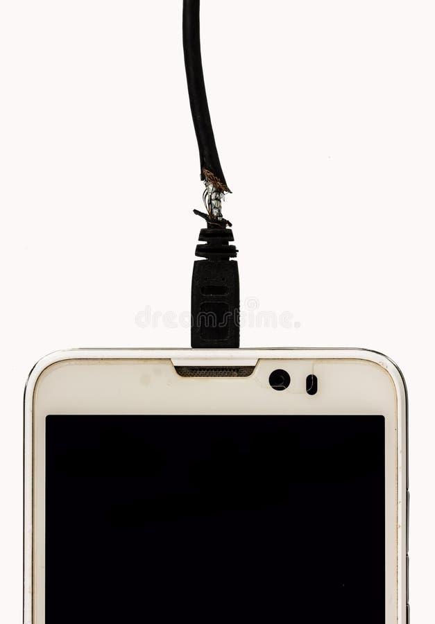Carico nocivo del telefono cellulare fotografia stock libera da diritti