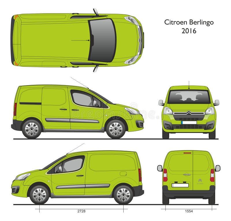 Carico Van del professionista di Citroen Berlingo 2016 illustrazione vettoriale