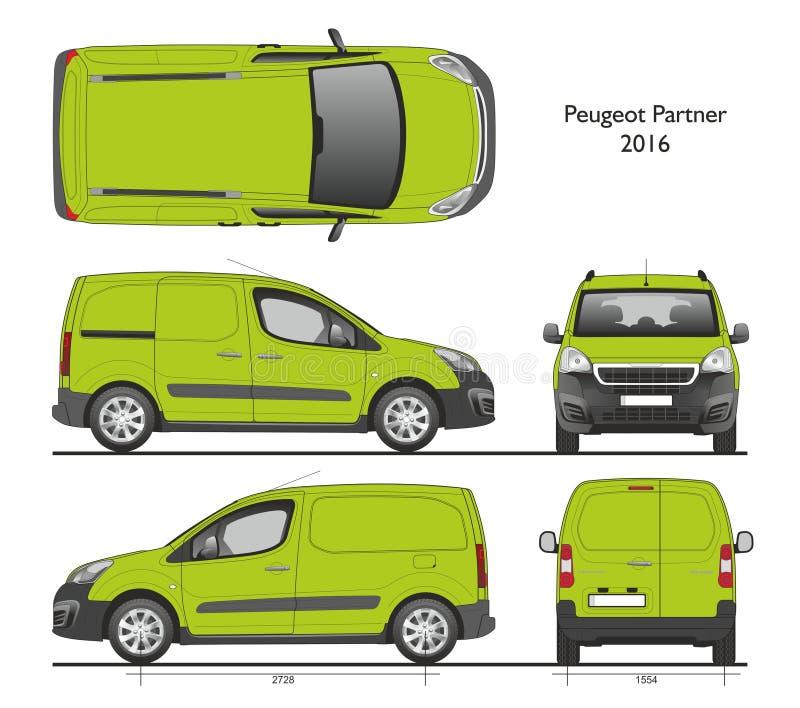 Carico Van del professionista del partner 2016 di Peugeot illustrazione di stock