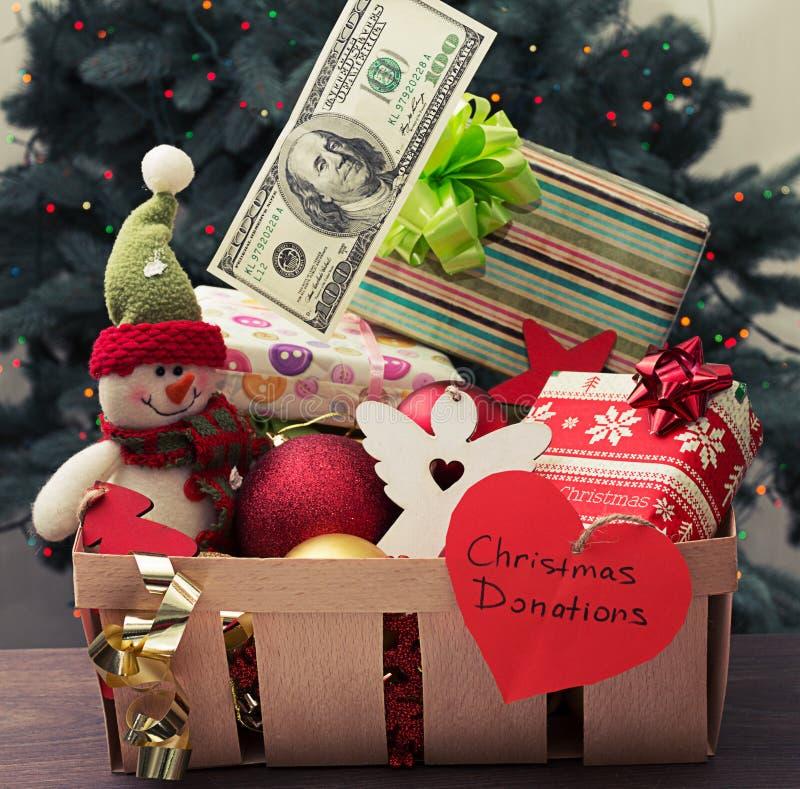 Caridad de la Navidad imágenes de archivo libres de regalías