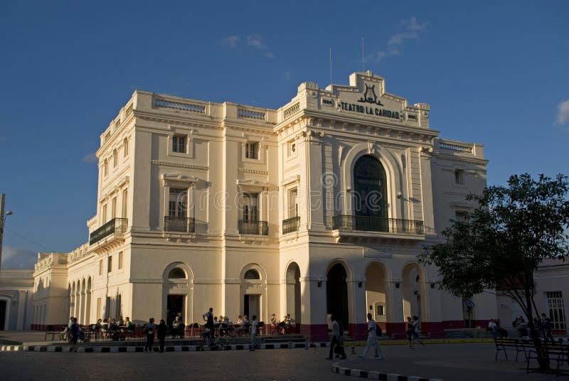 Caridad Theatre, Santa Clara, Cuba photographie stock libre de droits