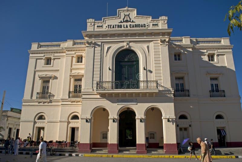 Caridad Theatre, Santa Clara, Kuba lizenzfreie stockfotos
