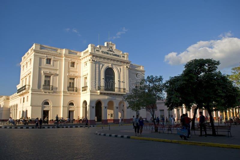 Caridad Theatre Santa Clara, Kuba royaltyfri bild