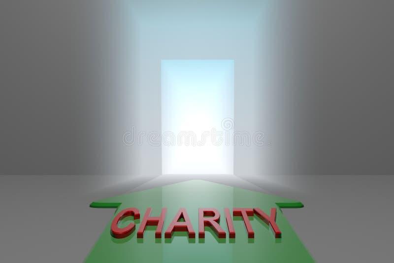 Caridade à porta aberta ilustração royalty free