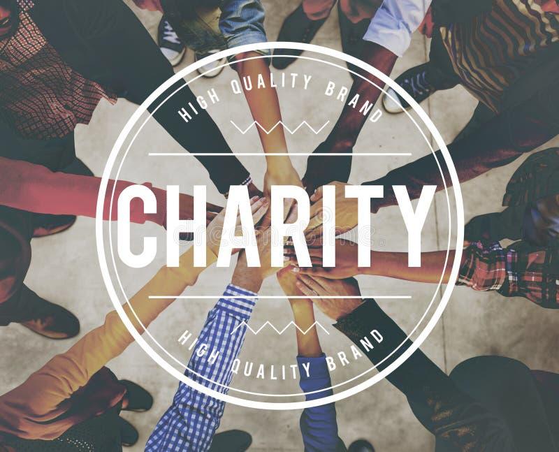 A caridade doa a doação do conceito do apoio do auxílio da ajuda fotos de stock