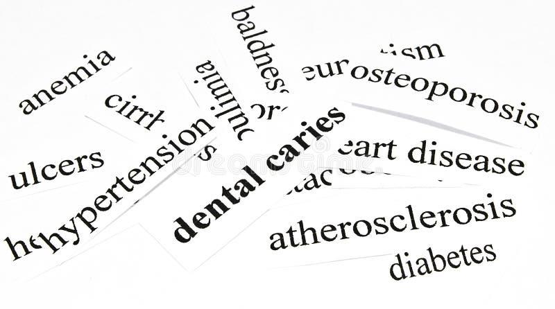 Carie dentale. Concetto di sanità delle malattie causate da nutrizione non sana fotografia stock