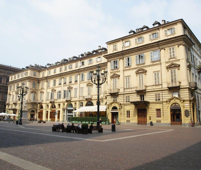 carignano piazza Turin obraz royalty free