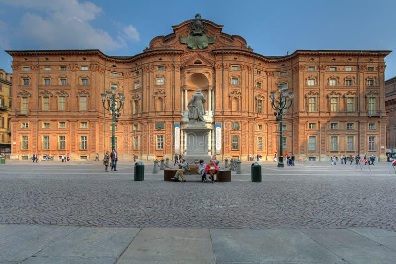 carignanoitaly palazzo turin royaltyfria bilder