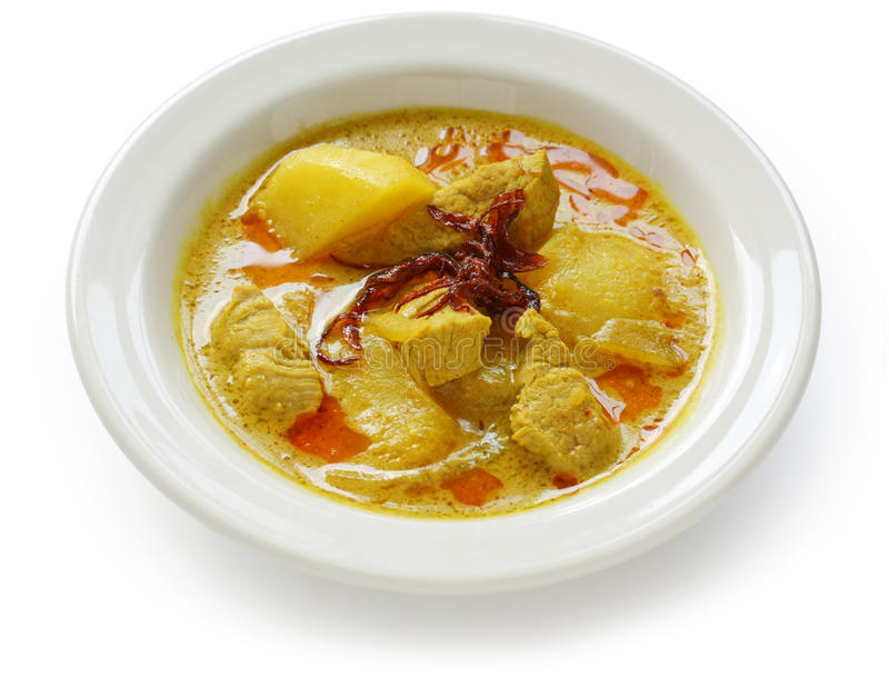 Caril amarelo, alimento tailandês imagens de stock