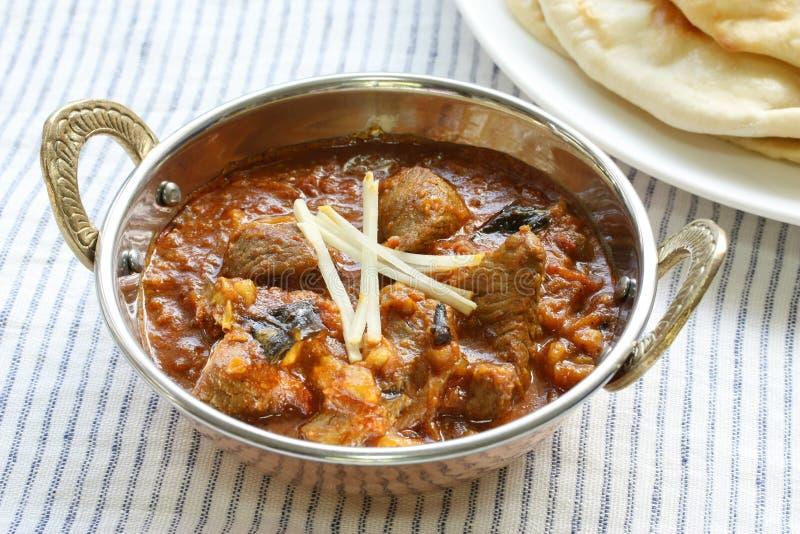 Caril da carne de carneiro, alimento indiano fotografia de stock royalty free