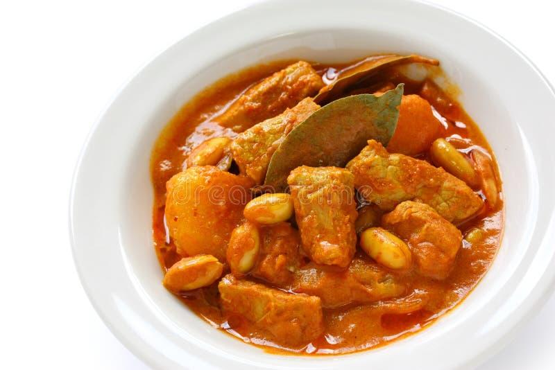 Caril de Massaman, alimento tailandês fotos de stock