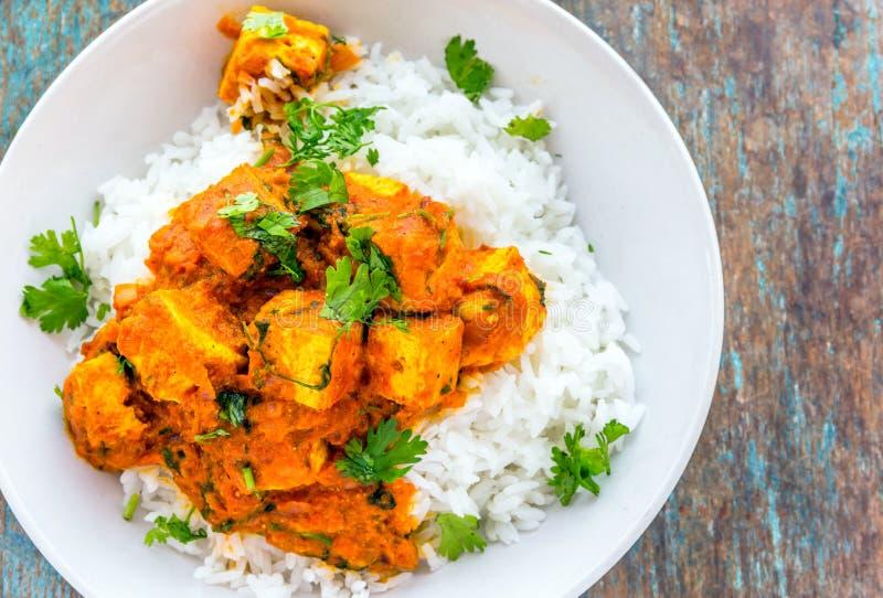 Caril de Paneer - alimento indiano/prato lateral foto de stock royalty free