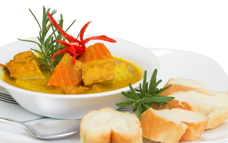 Caril delicioso saudável do tofu fotos de stock royalty free