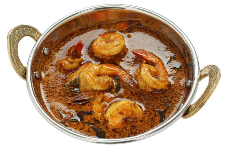 Caril do camarão, alimento indiano imagens de stock