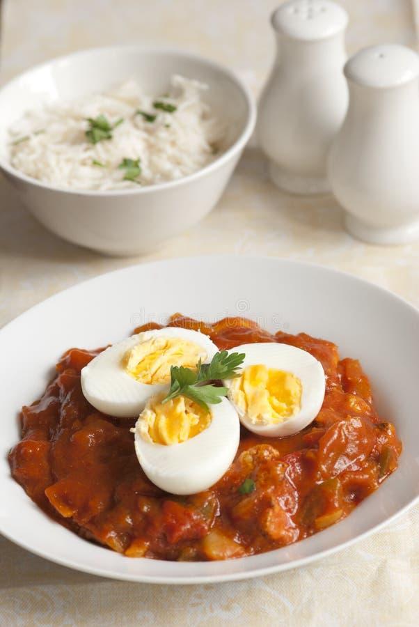 Caril do ovo de Keralan imagem de stock