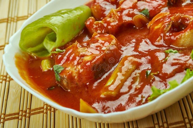 Caril dos peixes de Assam imagem de stock