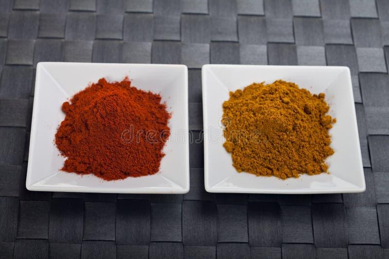 Caril e paprika fotografia de stock