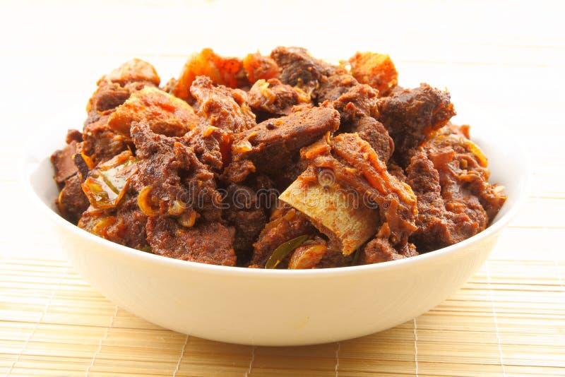 Caril indiano da carne de carneiro do estilo fotografia de stock royalty free