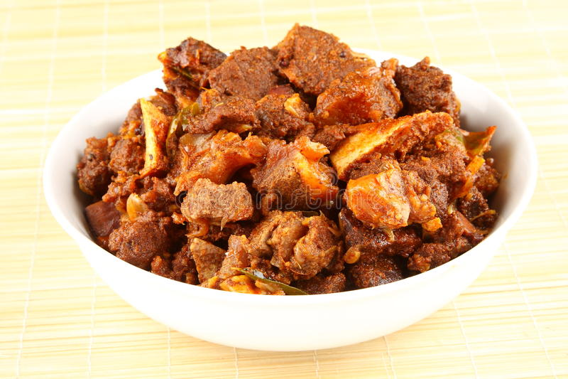 Caril indiano da carne de carneiro do estilo foto de stock