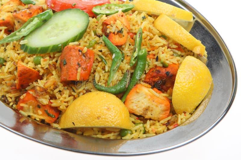 Caril indiano de Tikka Biriani da galinha fotos de stock royalty free