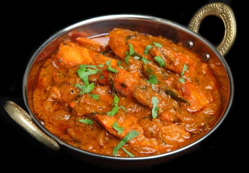 Caril indiano de Tikka Jalfrezi da galinha foto de stock
