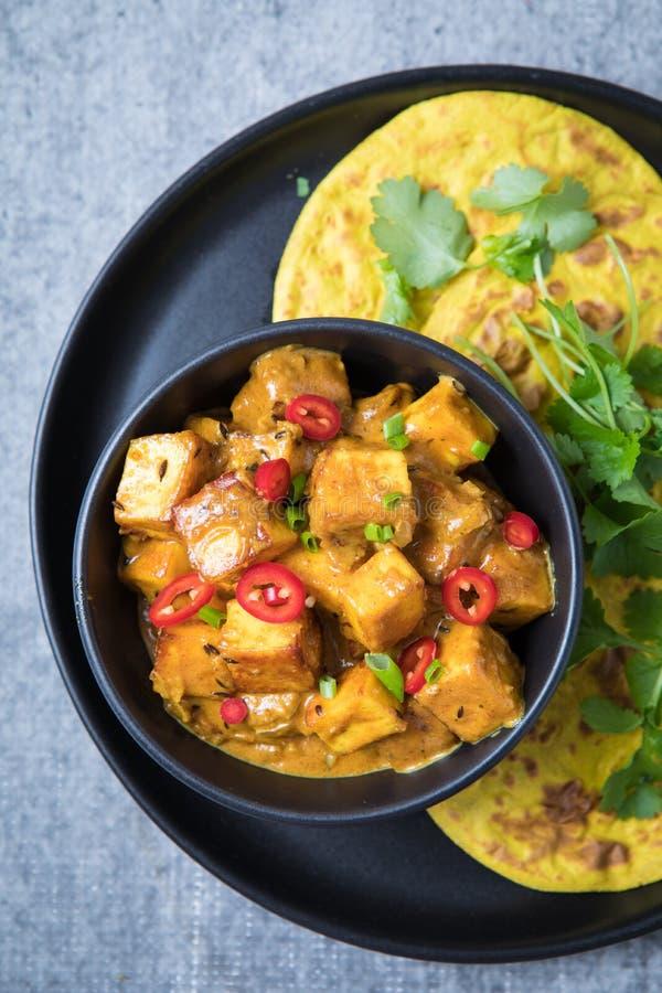 Caril indiano do queijo fotos de stock