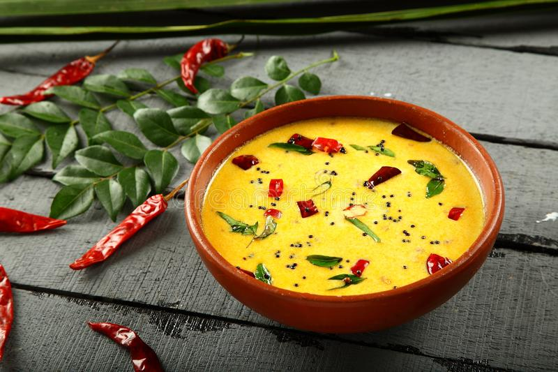 Caril picante do leite de manteiga, culinária tradicional de Kerala, fotos de stock royalty free