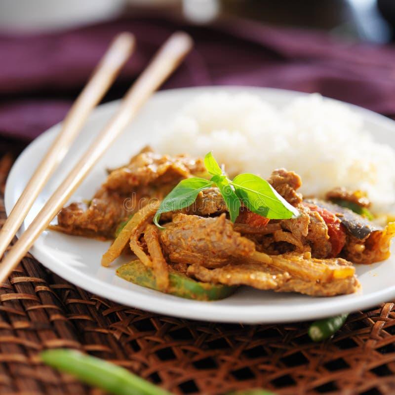 Caril tailandês da carne do panang imagens de stock
