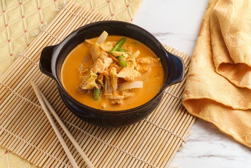 Caril tailandês de Panang do alimento imagens de stock royalty free